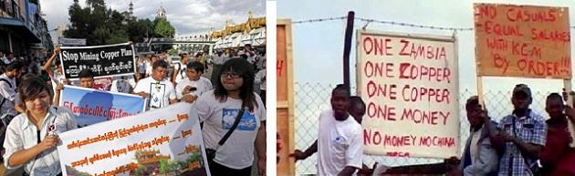 myanmar zambia protest kopermijn