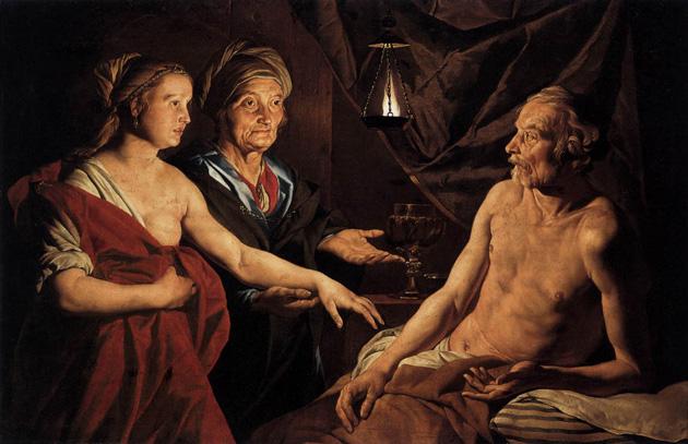 Sara leidt Hagar tot Abraham
